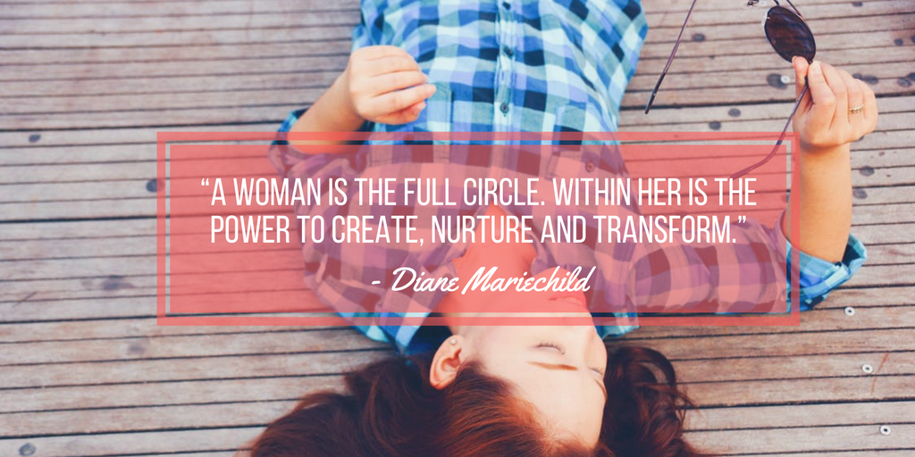 Diane Mariechild quote about strong and independent women