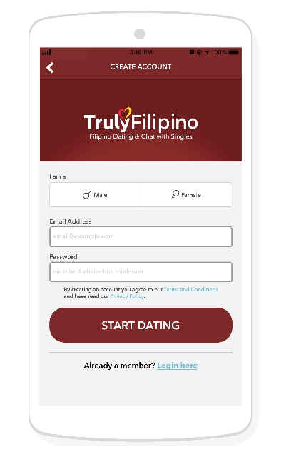 TrulyFilipino sign up form