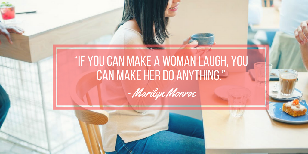 Marilyn Monroe quote about making a woman laugh
